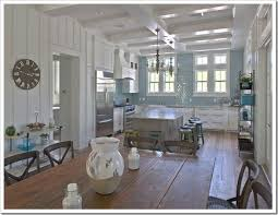 Kitchen  Small Kitchen In White Decoration White Wooden Wall Rack Small Coastal Kitchen Ideas