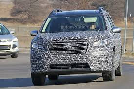 2018 subaru ascent suv. contemporary subaru 2018 subaru ascent 3row crossover suv spied in detail for subaru ascent suv