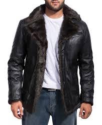 men s black fur jacket