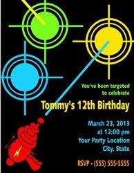 Free Laser Tag Invitation Template Laser Tag Birthday Party Invitation Template Free Nice Free