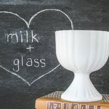 1950s milk glass compote candy dish pedestal bowl vintage mad men