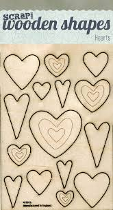picture of inspired to make wooden shapes hearts