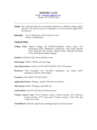 Sample Software Testing Resume sample resume for qa tester Yelommyphonecompanyco 35
