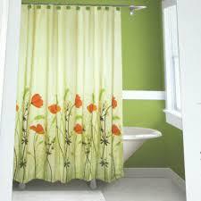 Stunning Springmaid Chantal Orange Green Brown Fabric Shower Curtain