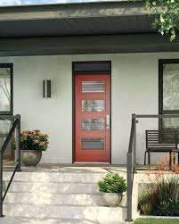 glass panel front doors a bold red front door with four glass inserts stained glass panel above front door