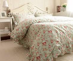 shabby chic duvet covers elegant roses garden california king size