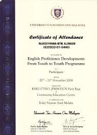 My Certificate Diyanajiman