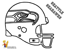 Seattle Seahawks Helmet Coloring Pages Free Image