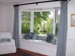 Living Room Curtain For Bay Windows Curtains For Bay Windows In Dining Room Home Window Ideas