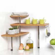 kitchen corner counter shelf unit for