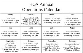 condo association budget template hoa annual operations calendar cac mgmt