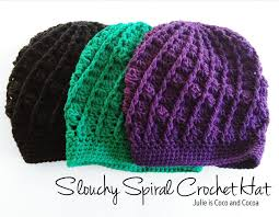 Free Crochet Hat Pattern New Slouchy Spiral Crochet Hat Pattern Julie Measures