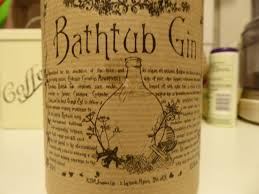 own spirits either using a metal ceramic bath tub to mix the spirit and botanicals small enough to not tip off the police or because the favoured style of