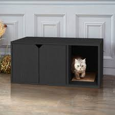 furniture to hide litter box. Cat Litter Box Furniture Hidden Kitty Pet House Table Enclosure Cabinet Enclosed To Hide R