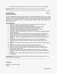 Captivating Resume Objective Quality Analyst Also Sample Qa Resume