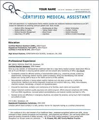 Medical Assistant Resume Templates Interesting Amazing Design Medical Resume Template Free Medical Assistant Resume