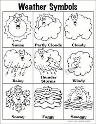 Weather Chart Printable Weather Symbols Printable Charts Signs And Skills Sheets