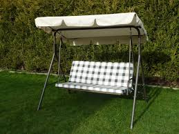 garden swing seat cushions uk. brown 3 seater garden swing seat hammock with and back cushions metal frame textoline uk