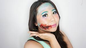 how to look like a mermaid with torn lips for special effect makeup