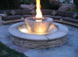 round gas firepit fire pit burner home depot