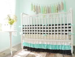 aqua black white gold crib bedding metallic gold turquoise bedding set for baby theme