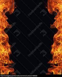 burning fire flame frame on black