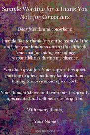 Thank You Note After Funeral To Coworkers 33 Best Funeral Thank You Cards Thank You Quotes For