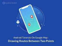 3.now set the path effect:patheffect is the base class for objects in the paint that affect the geometry of a drawing primitive.the dashpatheffect is one class that inherits the class: Android Tutorials On Google Map Drawing Routes Between Two Points Specbee