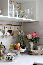 kitchen tiles with fruit design. the reveal of our black white and gold kitchen tiles with fruit design