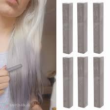 grey hair chalk 3 cement dark grey hair color 1