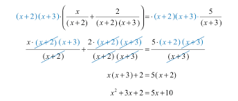 step 4 solve the resulting equation here the result is a quadratic equation rewrite it in standard form factor and then set each factor equal to 0