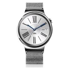 huawei w1. huawei w1 watch stainless steel mesh silver front