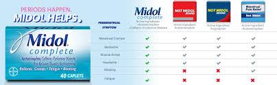 Midol Complete Menstrual Period Symptoms Relief Caplets