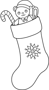 christmas stocking clipart black and white. Interesting Stocking Christmas Stocking Clip Art Black And White 05 In Clipart
