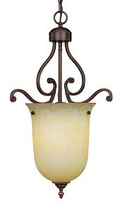 courtney lakes bronze scavo glass pendant light 16 wx26 h