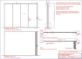 sliding glass doors drawn doorway section technical information