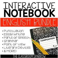 ela interactive notebook activities bundle essay grammar  ela interactive notebook activities bundle essay grammar punctuation etc