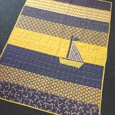 25+ unique Nautical baby quilt ideas on Pinterest | Baby quilt ... & Check out this adorable blue and yellow nautical theme baby blanket created  by one of our loving BabyBump Grandmothers to be. Adamdwight.com