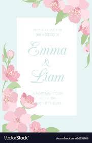 Wedding Invitation Template Wedding Invitation Template Cherry Sakura Blossom