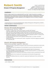 Property Management Resume Samples Director Of Property Management Resume Samples Qwikresume