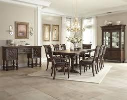 Klaussner Bedroom Furniture Klaussner Palencia 9 Piece Trestle Dining Set In Dark Brown By