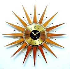 sunburst clock vintage starburst wall clocks vintage sunburst clock starburst wall clock silver medium image for sunburst clock vintage