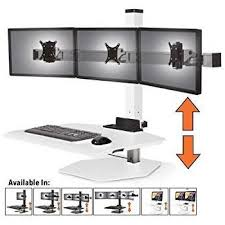 3 Monitor Display Stand Fascinating Amazon Stand Steady Winston Workstation Triple Monitor Mount