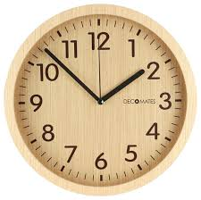 Small Picture Wall Clock Horizontal Clock Closeup Yellow Retro Wall Clock