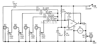 mixer circuit diagram the wiring diagram audio mixer circuit audio circuits next gr circuit diagram