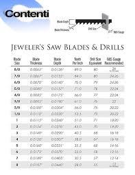 Jewelers Saw Blades Drills Contenti