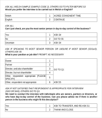 Questionnaire Questions For A Business Questionnaire Sample For Company Magdalene Project Org
