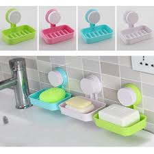candy color toilet suction cup holder bathroom shower soap dish home hotel travel soap dish tray wall holder storage box brand in soap dishes from home