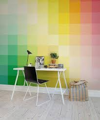 office workspace design. a colorful backdrop for your cool home office from rebel walls workspace design