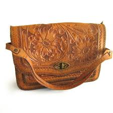 hand tooled western leather purses